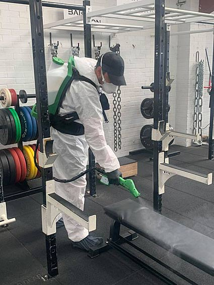 deep cleaning at sports training centres